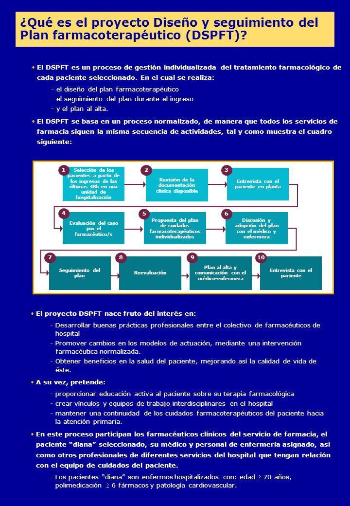 El DSPFT es un proceso de gestión individualizada del tratamiento farmacológico de cada paciente seleccionado.
