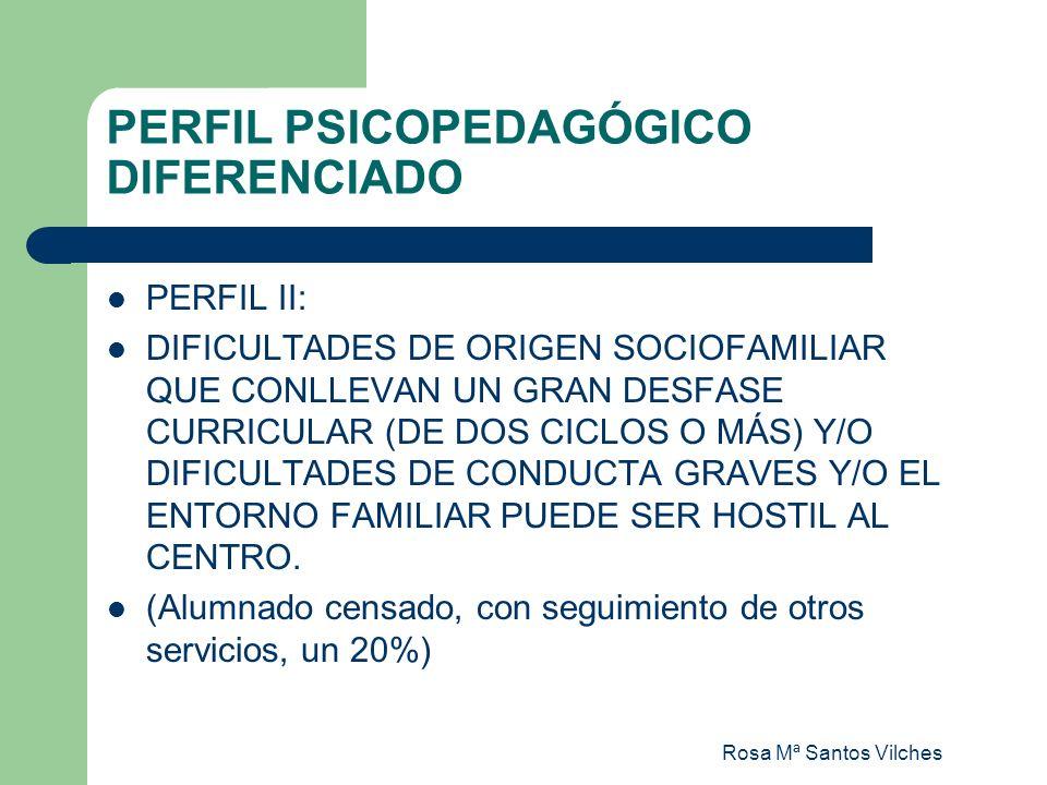Rosa Mª Santos Vilches PERFIL PSICOPEDAGÓGICO DIFERENCIADO PERFIL II: DIFICULTADES DE ORIGEN SOCIOFAMILIAR QUE CONLLEVAN UN GRAN DESFASE CURRICULAR (D