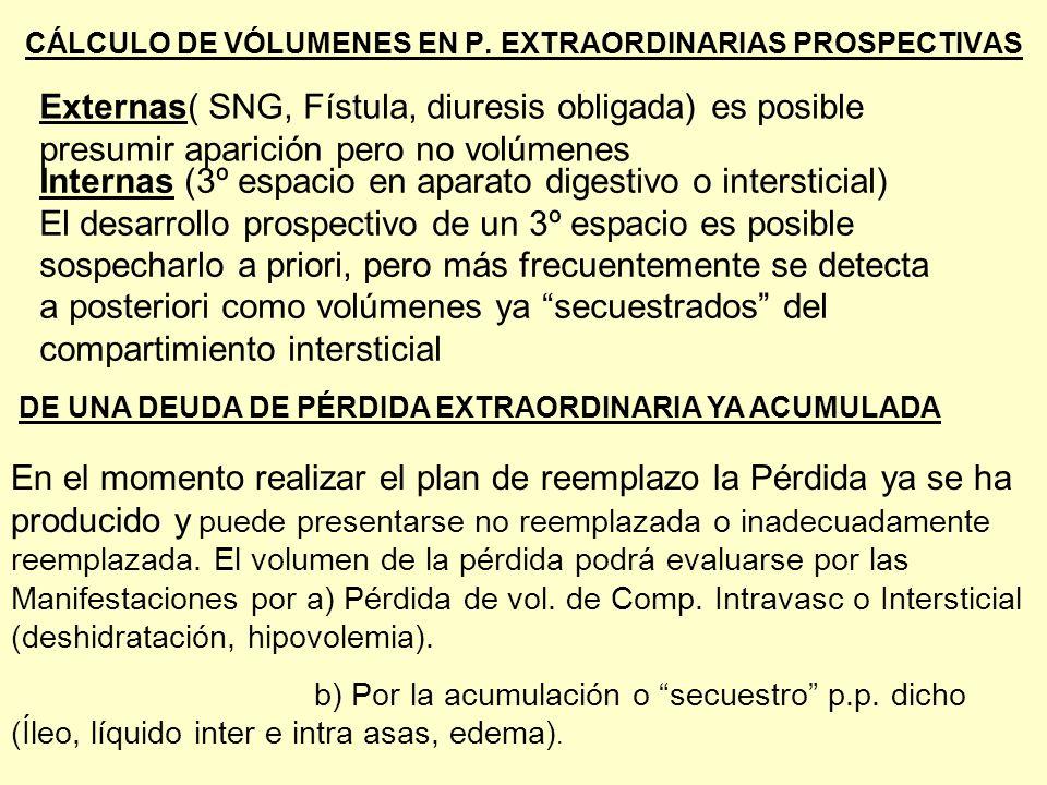 CÁLCULO DE VÓLUMENES EN P. EXTRAORDINARIAS PROSPECTIVAS DE UNA DEUDA DE PÉRDIDA EXTRAORDINARIA YA ACUMULADA En el momento realizar el plan de reemplaz