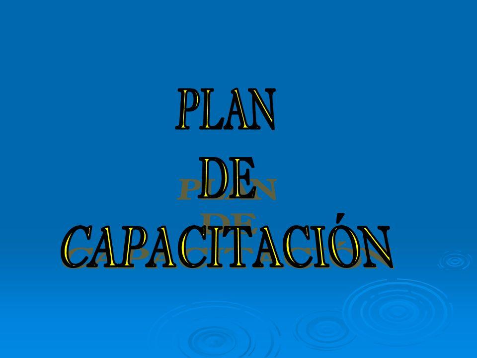 PLAN DE CAPACITACION Y DESARROLLO DE LOS RECURSOS HUMANOS ES EL DOCUMENTO QUE RECOGE TODAS LAS ACTIVIDADES CAPACITANTES QUE SE REALIZAN EN UNA INSTITUCION, INTEGRADO POR LAS PLANES QUE ELABORA CADA DEPARTAMENTO