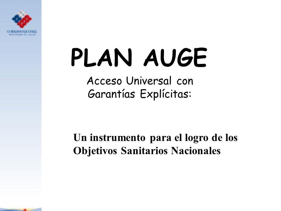 PLAN AUGE Acceso Universal con Garantías Explícitas: Un instrumento para el logro de los Objetivos Sanitarios Nacionales
