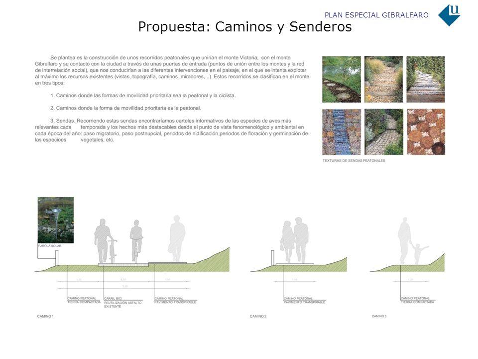 PLAN ESPECIAL GIBRALFARO Propuesta: Caminos y Senderos
