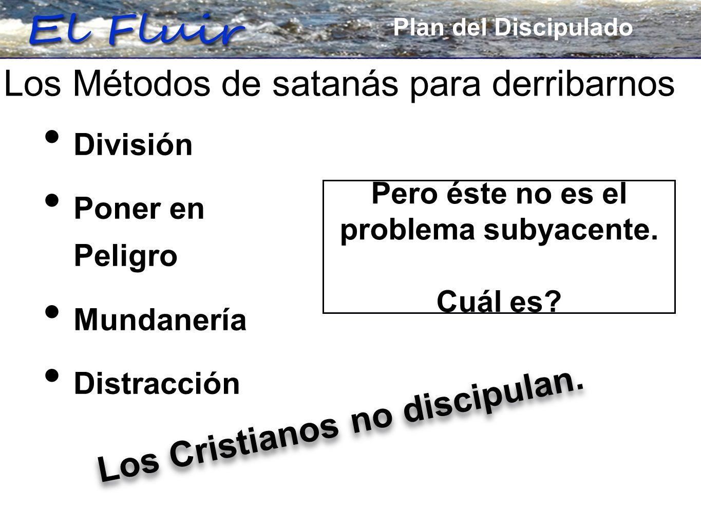 Plan for Discipleship División Poner en Peligro Mundanería Distracción Los Métodos de satanás para derribarnos Pero éste no es el problema subyacente.