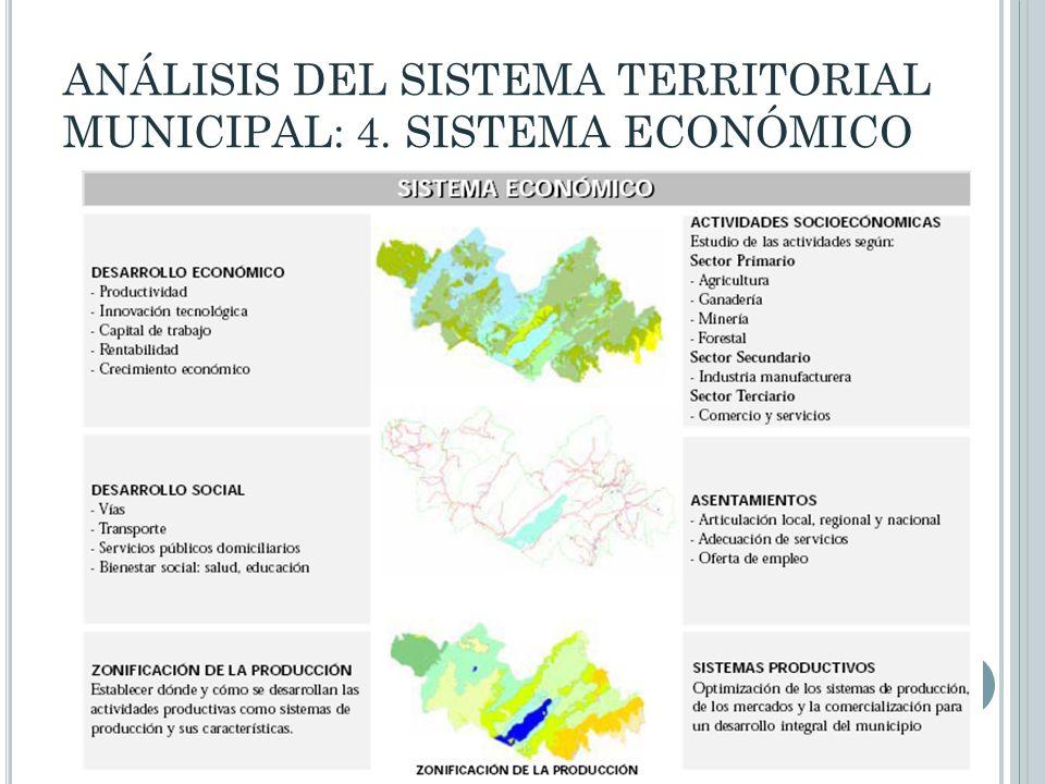 ANÁLISIS DEL SISTEMA TERRITORIAL MUNICIPAL: 4. SISTEMA ECONÓMICO
