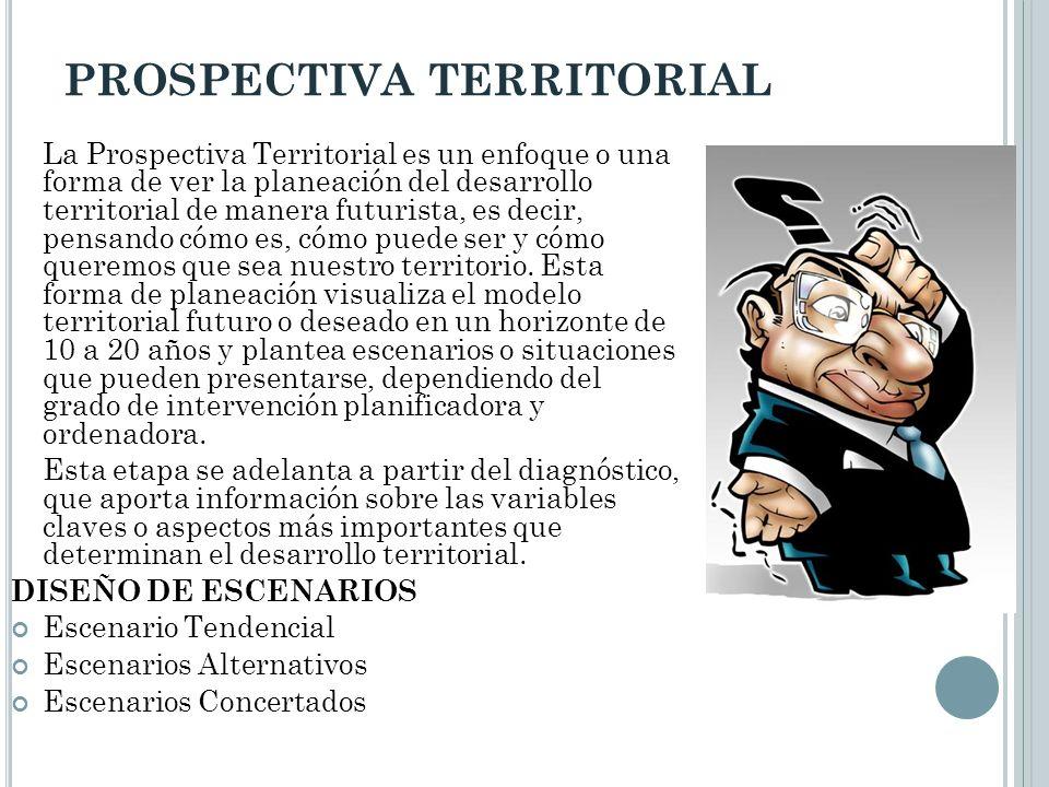 PROSPECTIVA TERRITORIAL La Prospectiva Territorial es un enfoque o una forma de ver la planeación del desarrollo territorial de manera futurista, es d