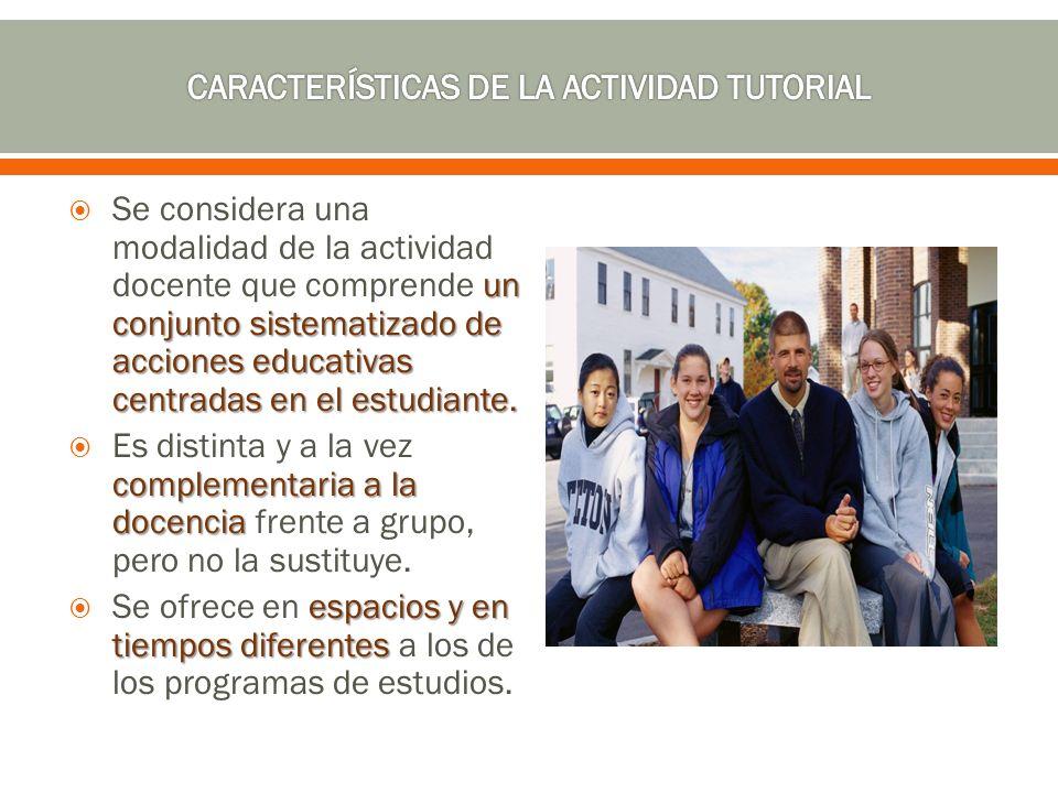 un conjunto sistematizado de acciones educativas centradas en el estudiante. Se considera una modalidad de la actividad docente que comprende un conju