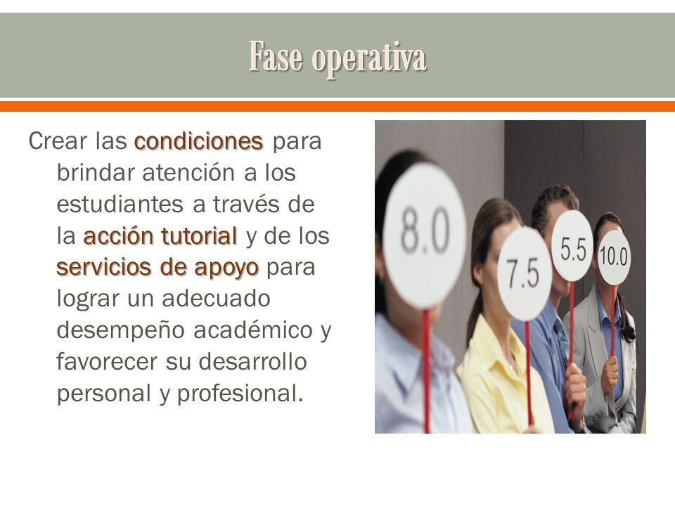 condiciones acción tutorial servicios de apoyo Crear las condiciones para brindar atención a los estudiantes a través de la acción tutorial y de los s