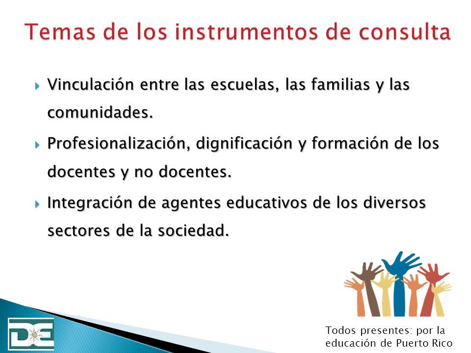 Vinculación entre las escuelas, las familias y las comunidades. Vinculación entre las escuelas, las familias y las comunidades. Profesionalización, di
