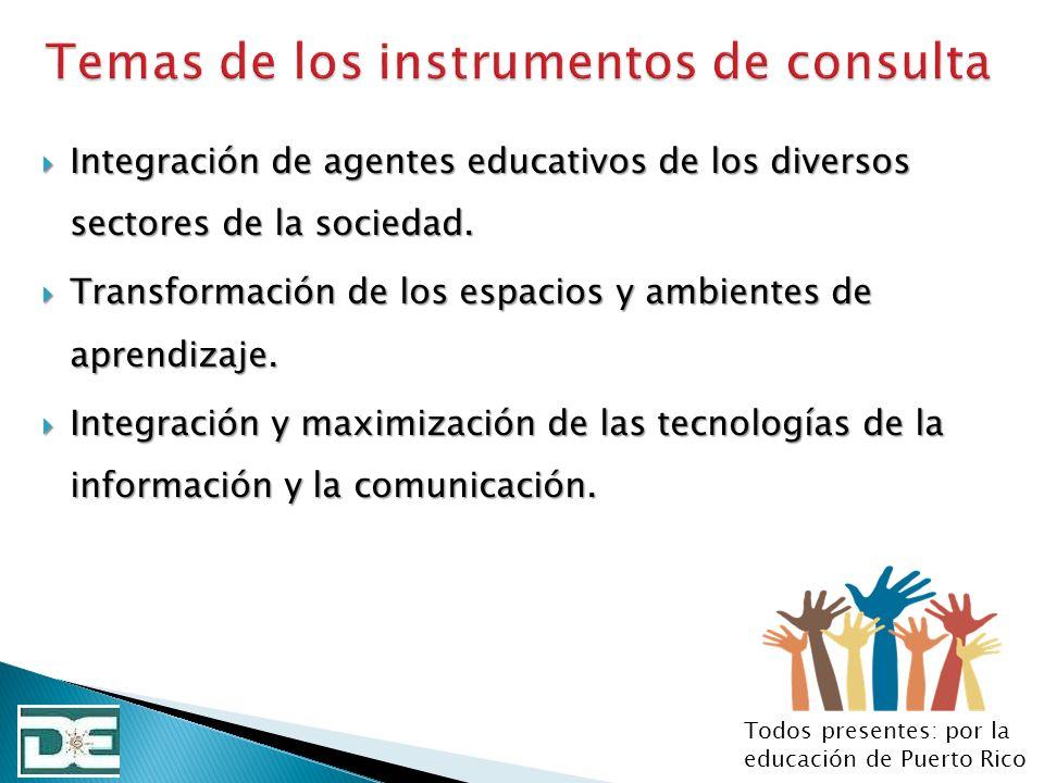 Integración de agentes educativos de los diversos sectores de la sociedad. Integración de agentes educativos de los diversos sectores de la sociedad.