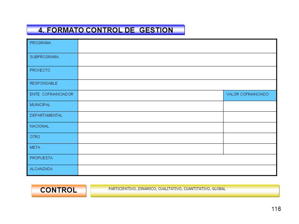 115 ARTICULO DECIMO: CONTROL DE GESTION Comprende las acciones que realizan los organismos gubernamentales a fin de lograr objetivos y cumplir las met