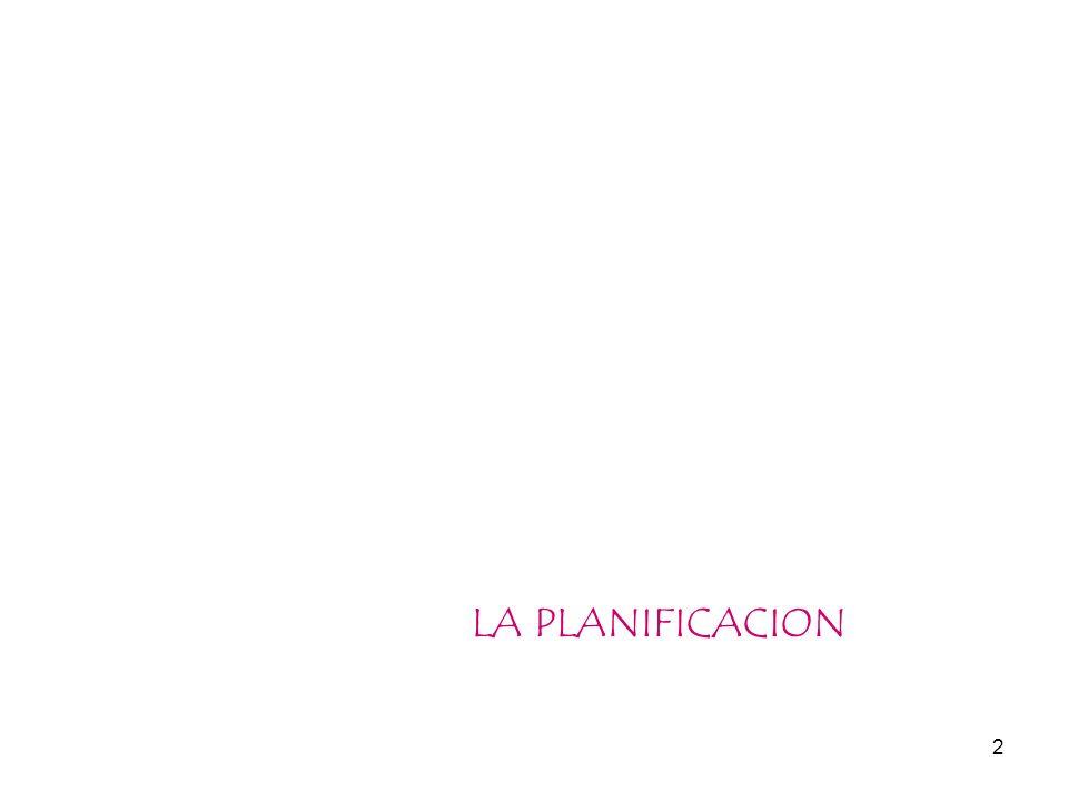2 LA PLANIFICACION