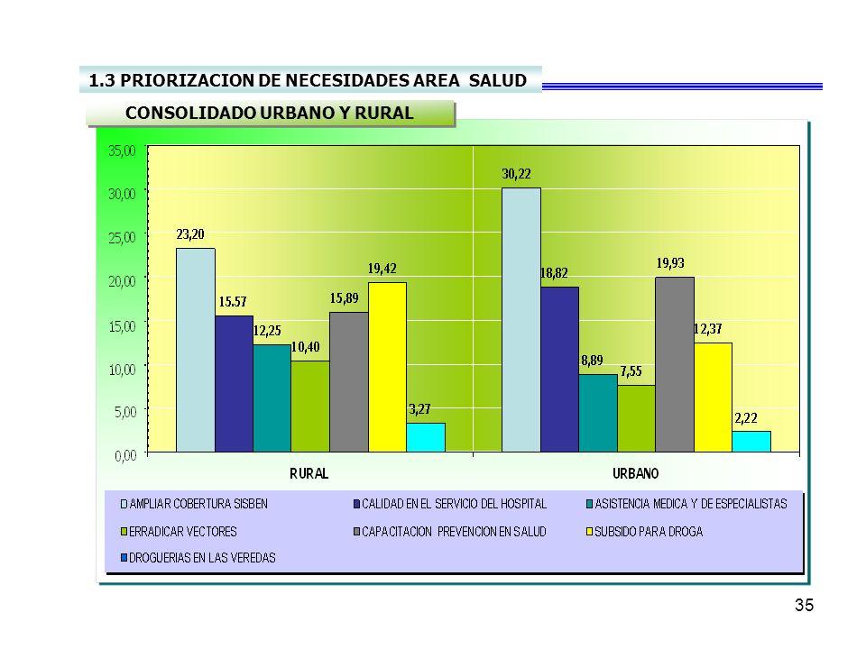 34 SALUD DIAGNOSTICO INSTITUCION CARACTERFUNCIONRECURSOS Hospital Regional De Moniquira Empresa Social del Estado Garantizar el segundo nivel de atenc