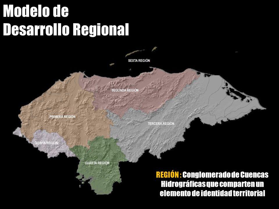 Modelo de Desarrollo Regional REGIÓN : Conglomerado de Cuencas Hidrográficas que comparten un elemento de identidad territorial