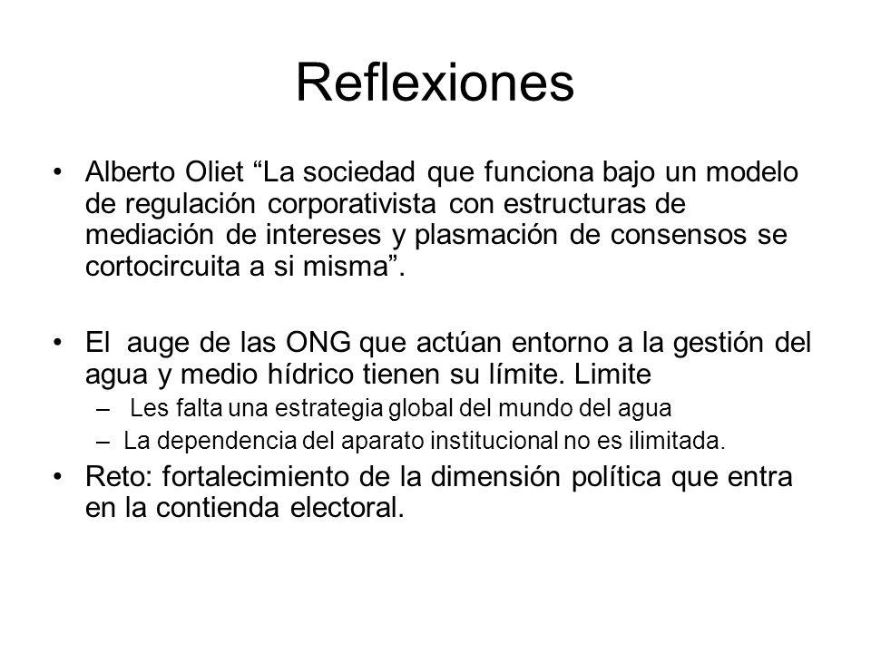 Reflexiones Alberto Oliet La sociedad que funciona bajo un modelo de regulación corporativista con estructuras de mediación de intereses y plasmación de consensos se cortocircuita a si misma.