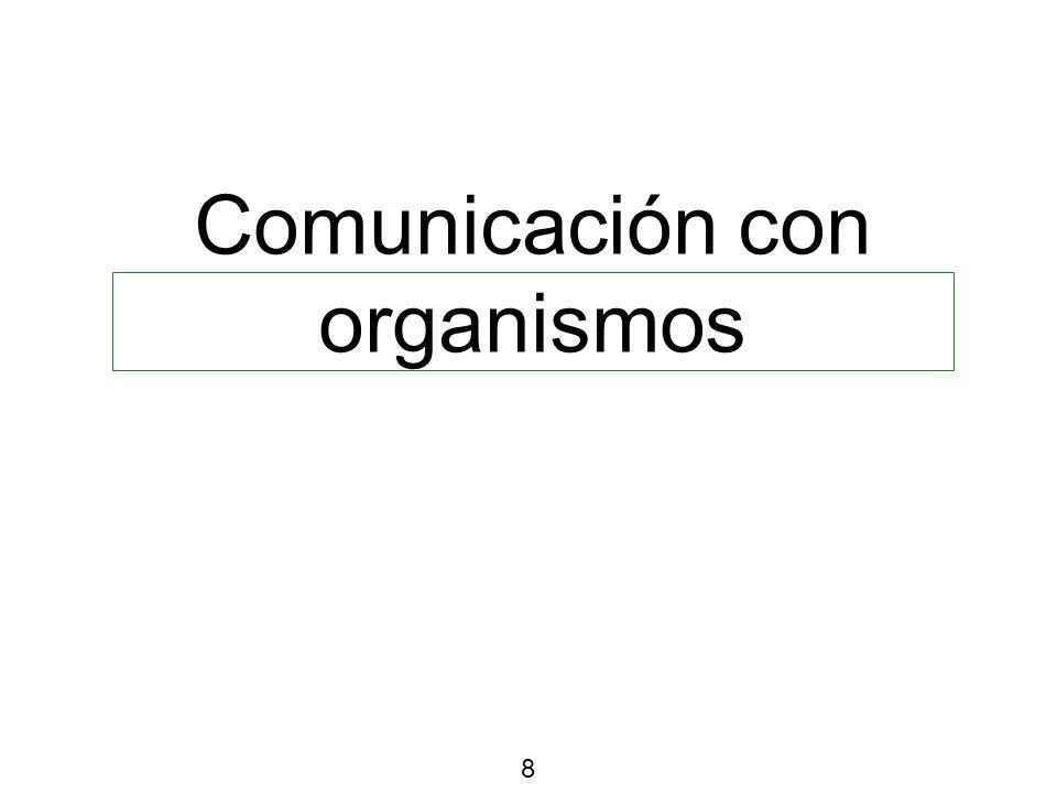 Comunicación con organismos 8