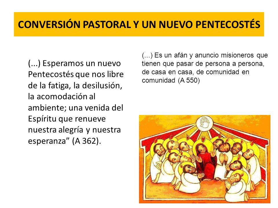 CONVERSIÓN PASTORAL Y UN NUEVO PENTECOSTÉS (...) Esperamos un nuevo Pentecostés que nos libre de la fatiga, la desilusión, la acomodación al ambiente;