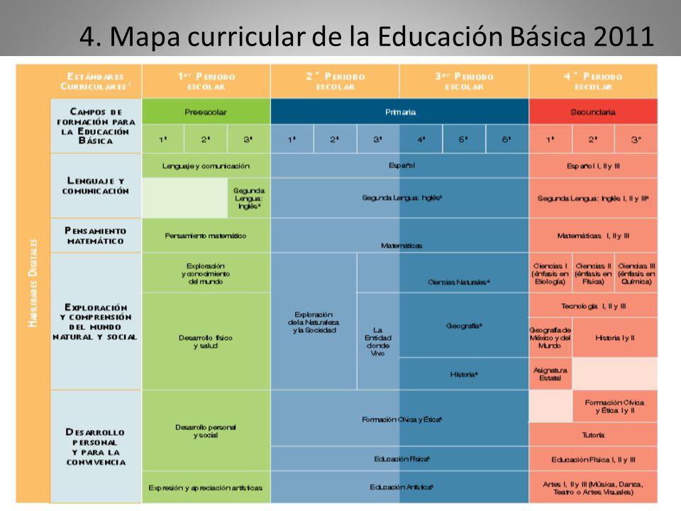 4. Mapa curricular de la Educación Básica 2011 2011