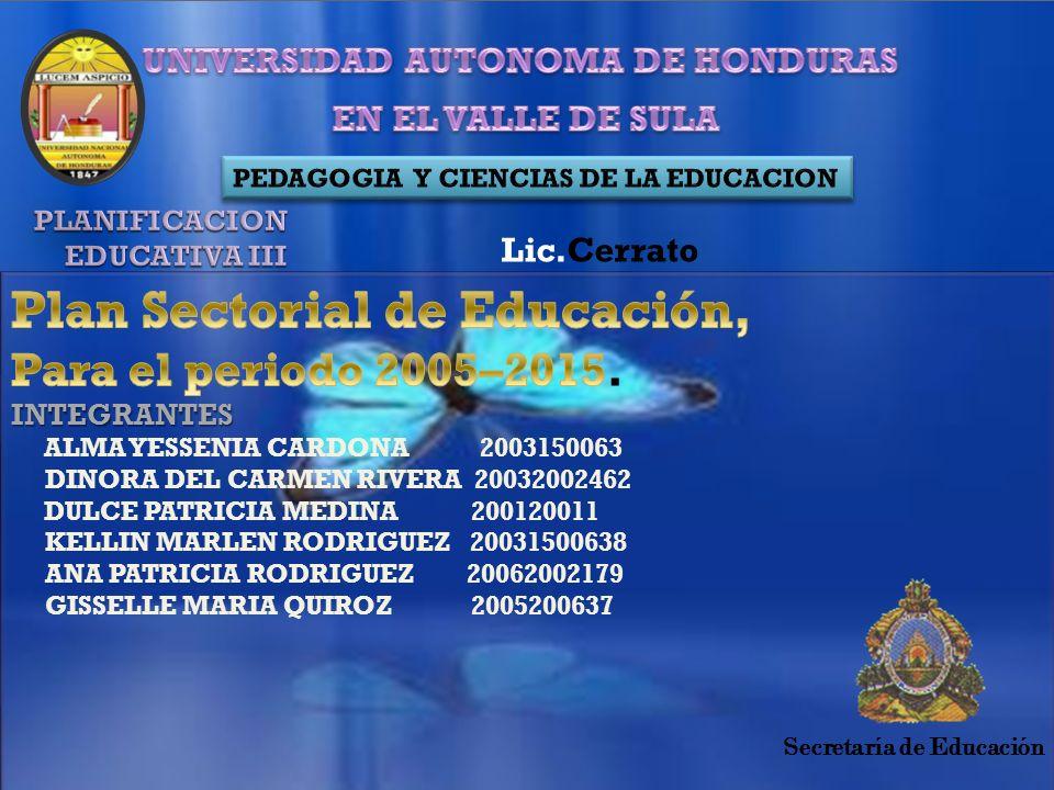 Lic.Cerrato Secretaría de Educación
