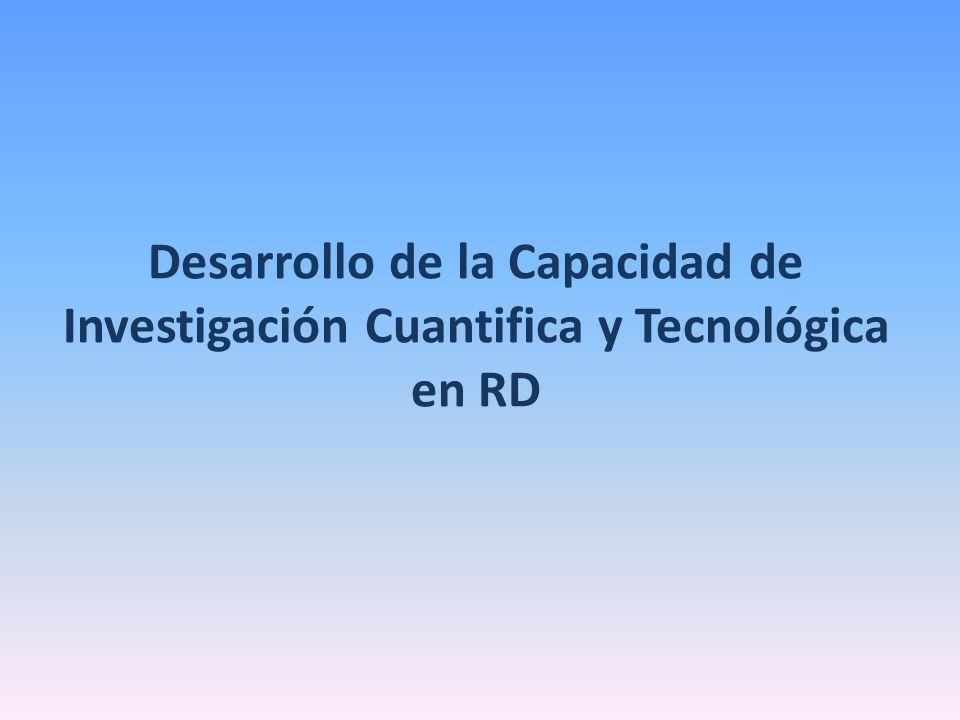 Desarrollo de la Capacidad de Investigación Cuantifica y Tecnológica en RD