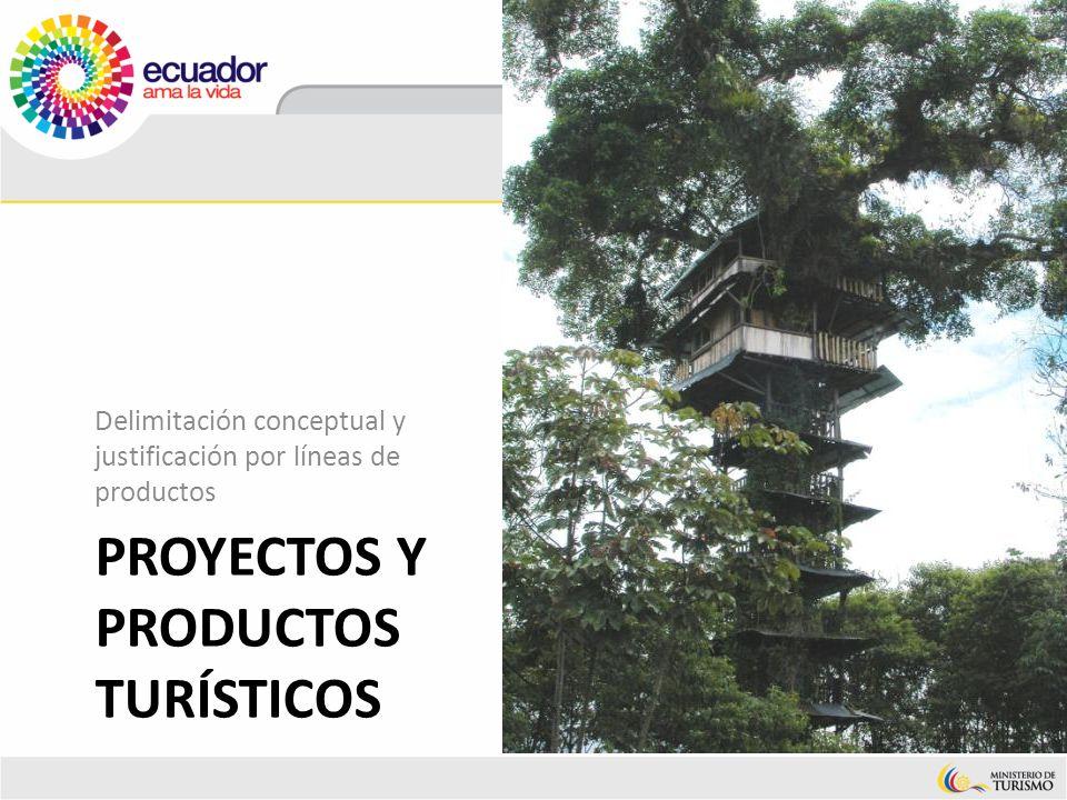 PROYECTOS Y PRODUCTOS TURÍSTICOS Delimitación conceptual y justificación por líneas de productos