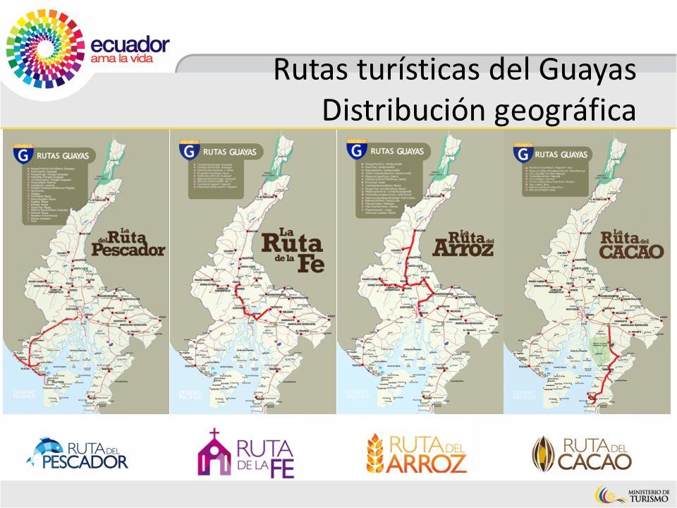 Rutas turísticas del Guayas Distribución geográfica