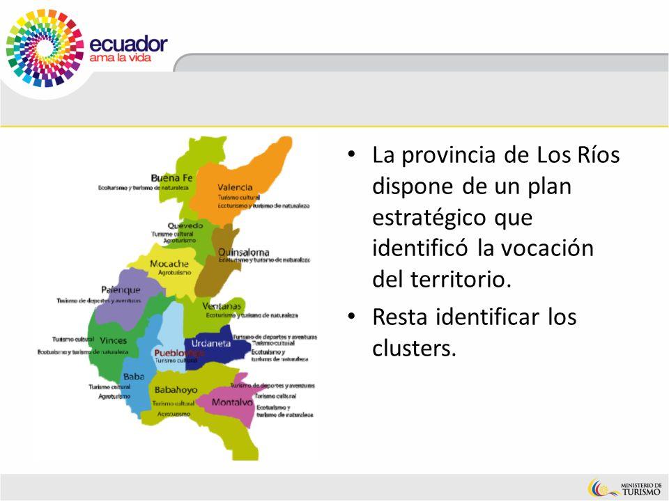 La provincia de Los Ríos dispone de un plan estratégico que identificó la vocación del territorio. Resta identificar los clusters.
