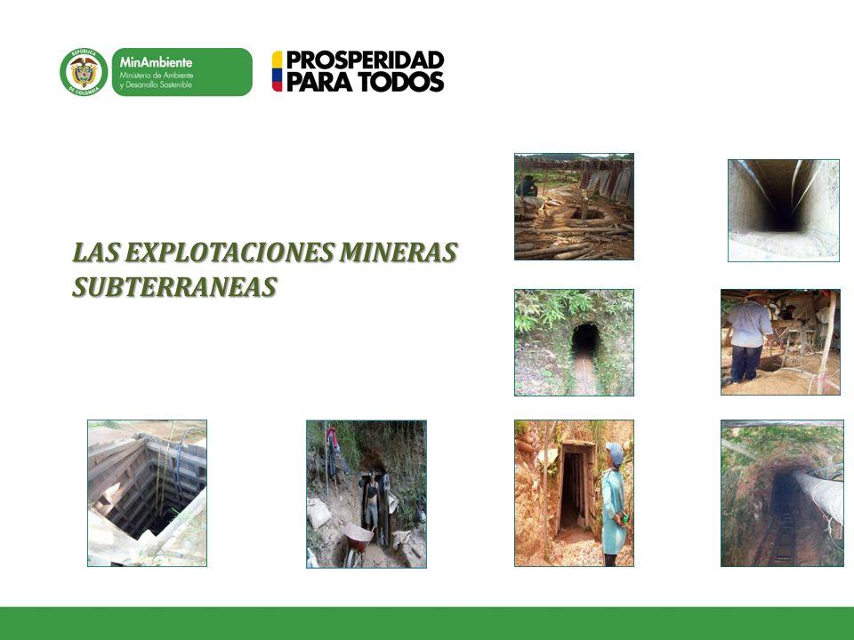 LAS EXPLOTACIONES MINERAS SUBTERRANEAS