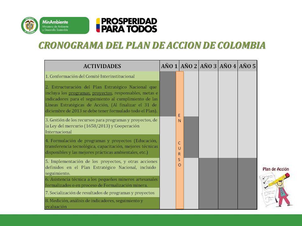 CRONOGRAMA DEL PLAN DE ACCION DE COLOMBIA EN CURSOEN CURSO EN CURSOEN CURSO