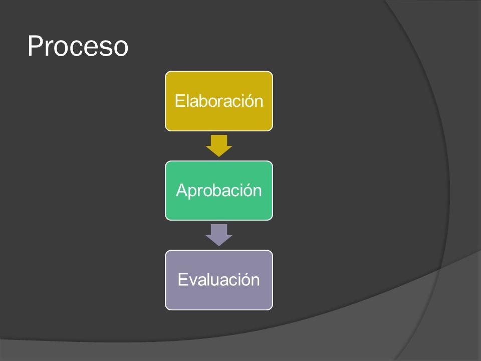 Proceso ElaboraciónAprobaciónEvaluación