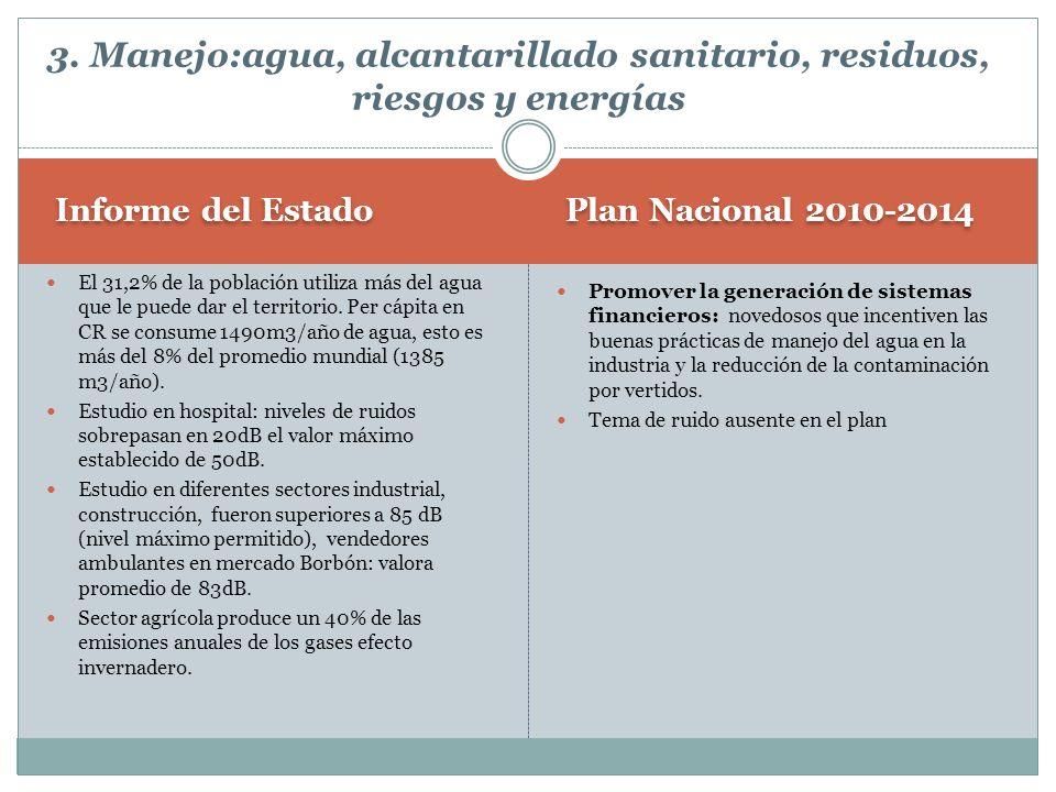 Plan Nacional 2010-2014 Informe del Estado Promover la generación de sistemas financieros: novedosos que incentiven las buenas prácticas de manejo del
