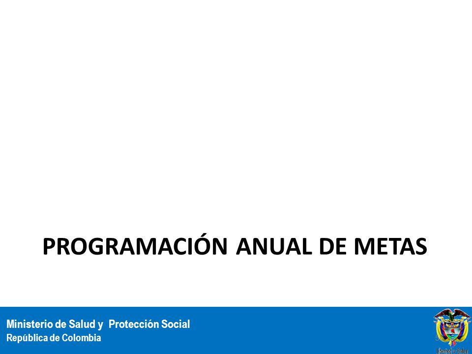 Ministerio de Salud y Protección Social República de Colombia PROGRAMACIÓN ANUAL DE METAS 58