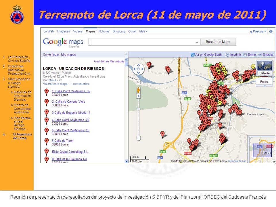1.La Protección Civil en España 2.Directrices Básicas de Protección Civil. 3.Planificación en el riesgo sísmico. a.Sistemas de Información Sísmica. b.
