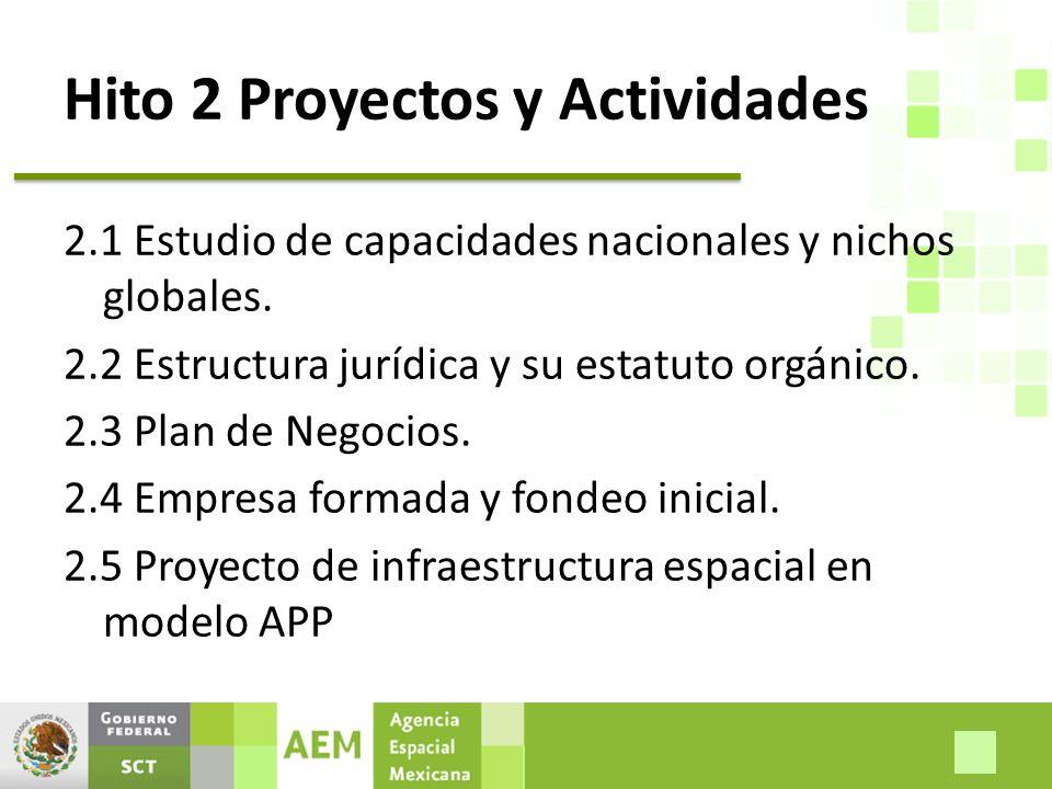 Hito 2 Proyectos y Actividades 2.1 Estudio de capacidades nacionales y nichos globales.