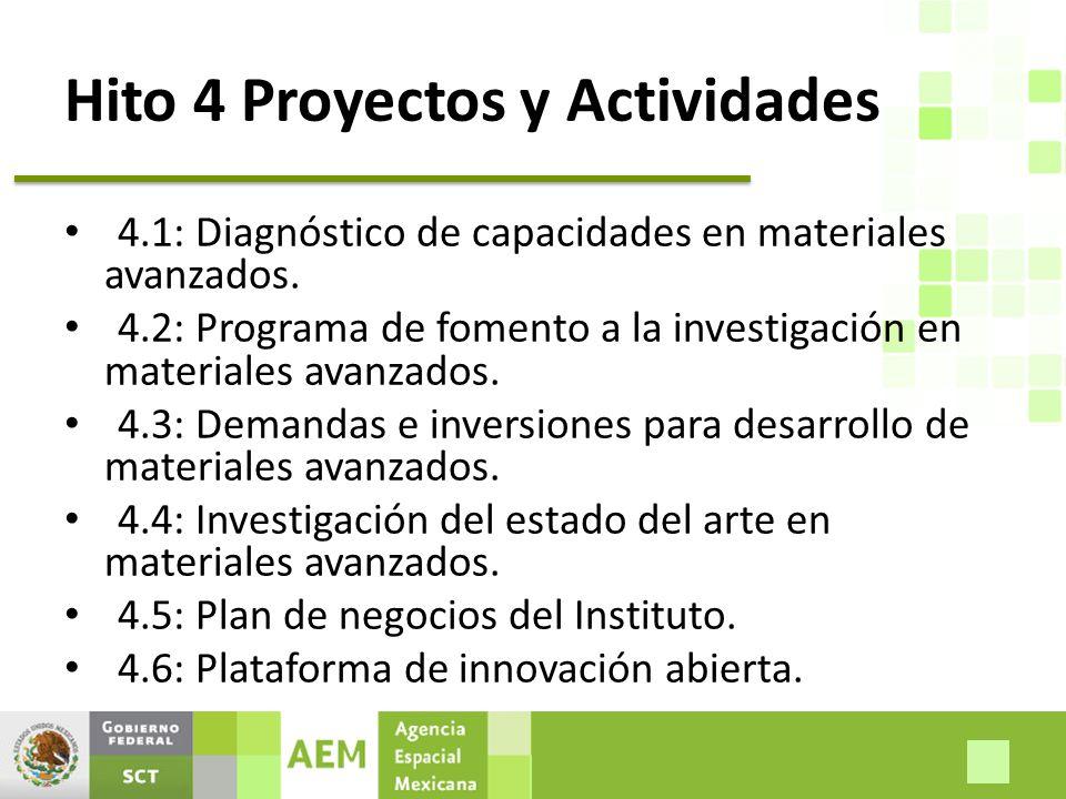 Hito 4 Proyectos y Actividades 4.1: Diagnóstico de capacidades en materiales avanzados.