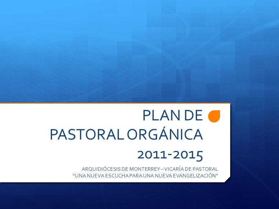 PLAN DIOCESANO DE PASTORAL ORGÁNICA 2011-2015.