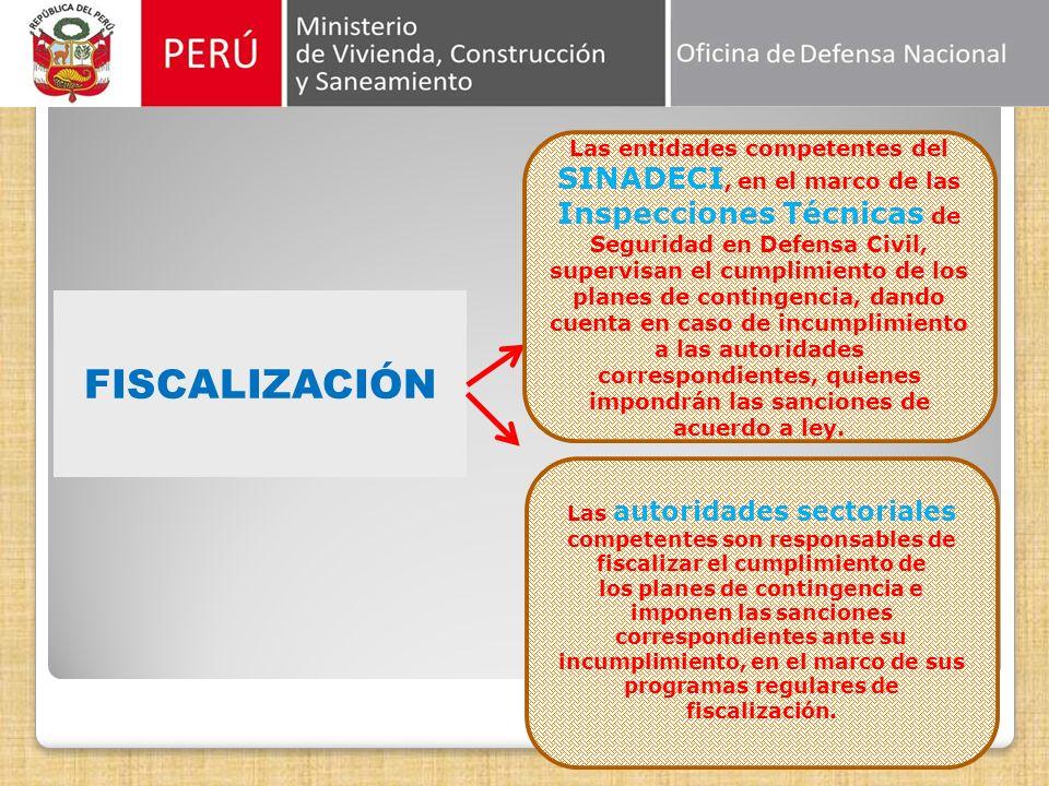 ACTUALIZACIÓN Y REFORMULACIÓN Fiscalizaci6n Con periodicidad no menor de cinco (5) años, contados desde la fecha de aprobación del plan de contingenci