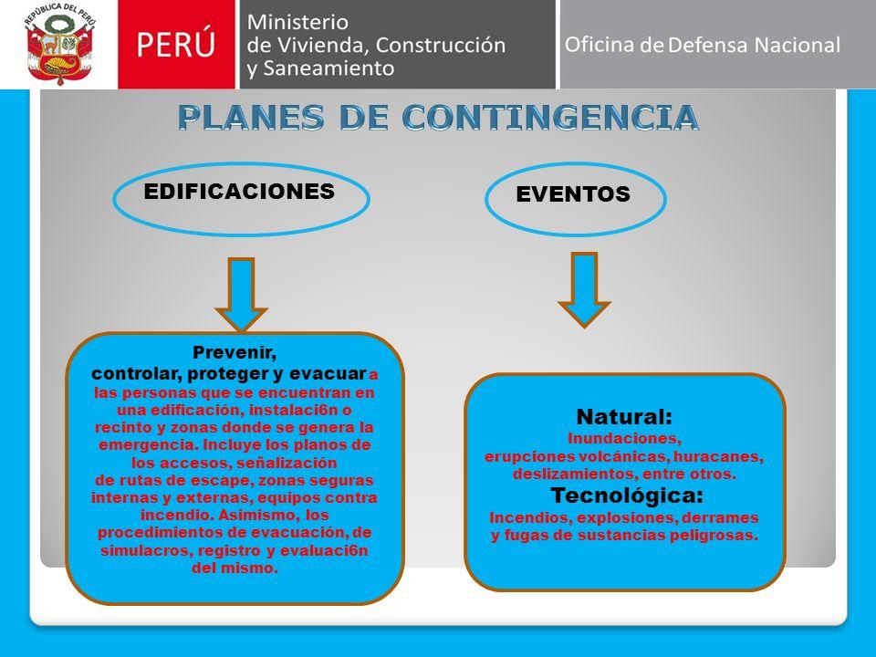 ESTRUCTURA Presenta una visión general de los Planes de Contingencia, define los términos básicos y establece el Marco normativo sobre el cual se basa