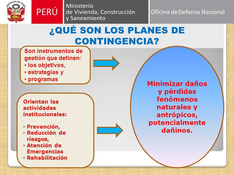 OBJETO DE LA LEY Obligación y Procedimiento para la Elaboración y Presentación de Planes de Contingencia. De conformidad a los objetivos, principios y