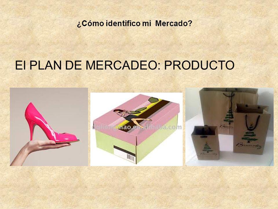 El PLAN DE MERCADEO: PRODUCTO ¿Cómo identifico mi Mercado?