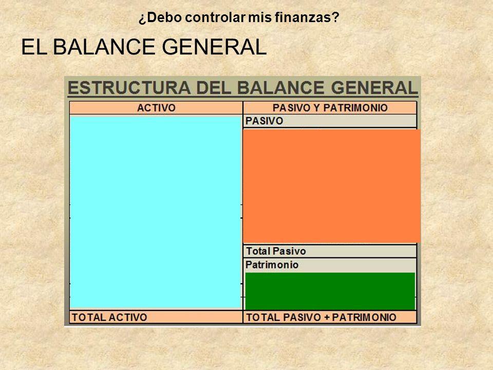 EL BALANCE GENERAL ¿Debo controlar mis finanzas?