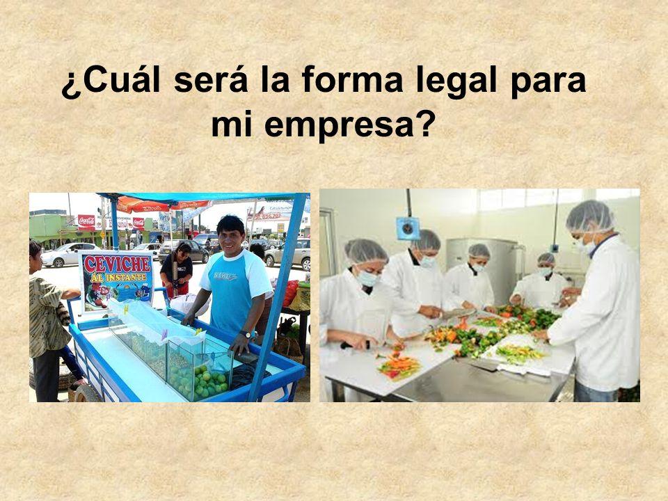 ¿Cuál será la forma legal para mi empresa?
