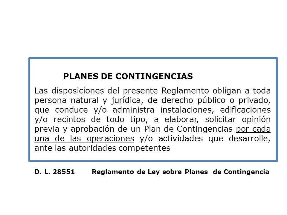 Plan de Contingencias AMENAZAS Origen Las Amenazas pueden tener distintos orígenes como la naturaleza (terremotos, tsunamis, erupciones volcánicas; antropicos por la tecnología o cambios inducidos (incendios, deslizamientos, inundaciones)