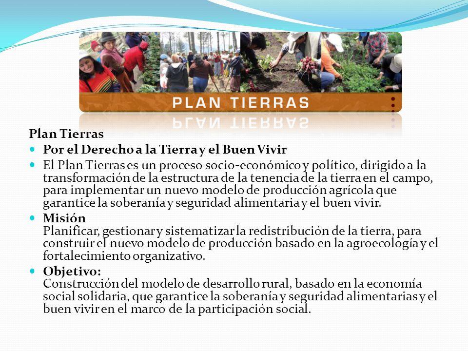 Plan Tierras Por el Derecho a la Tierra y el Buen Vivir El Plan Tierras es un proceso socio-económico y político, dirigido a la transformación de la e