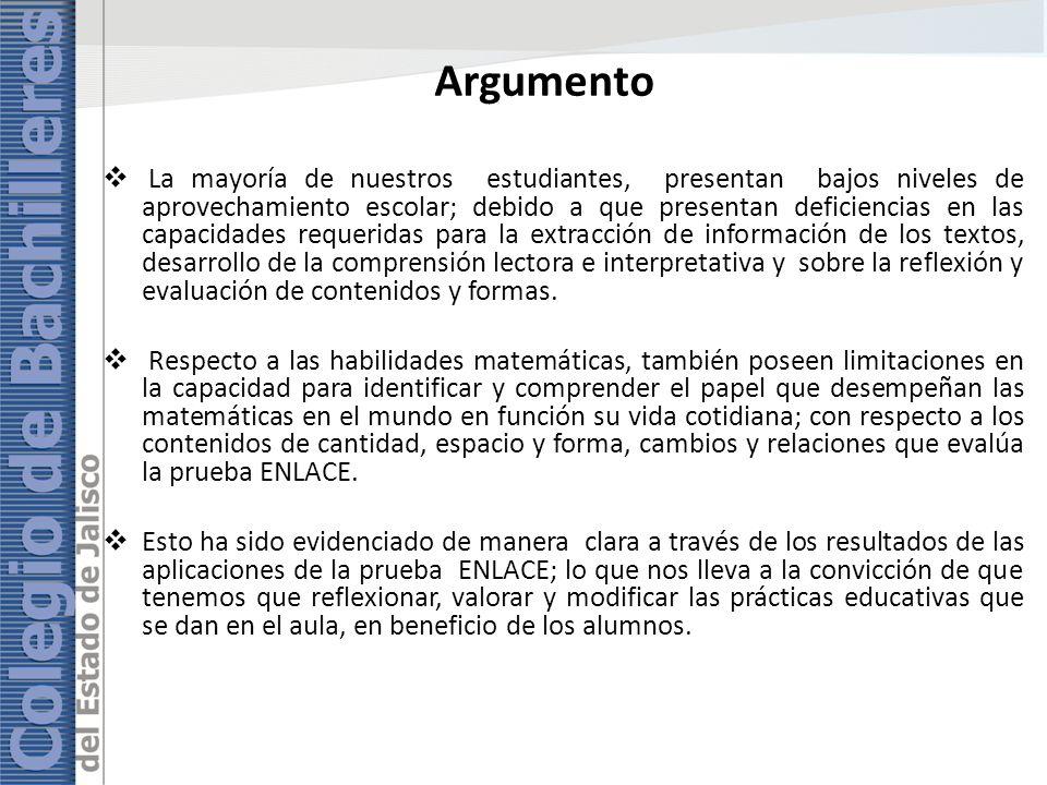 Planteamiento del problema ¿Cómo mejorar los resultados de la prueba ENLACE fundamentados en la práctica docente.