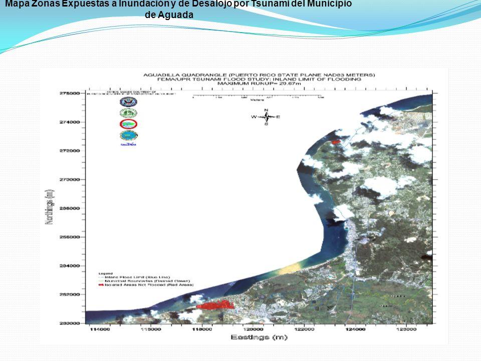 Mapa Zonas Expuestas a Inundación y de Desalojo por Tsunami del Municipio de Aguada