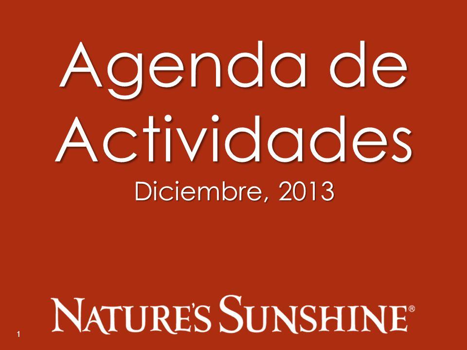 1 Agenda de Actividades Diciembre, 2013