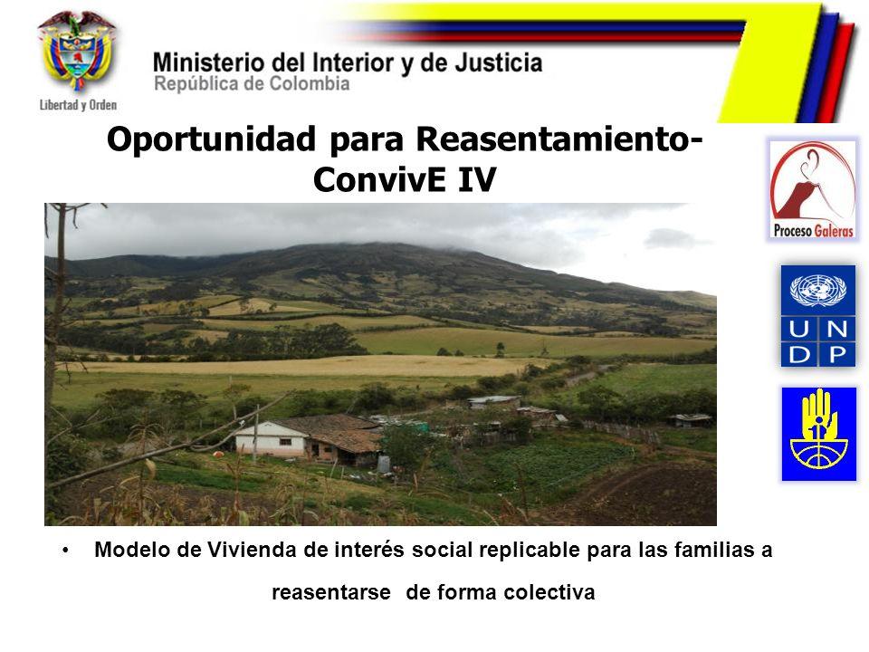 Oportunidad para Reasentamiento- ConvivE IV Modelo de Vivienda de interés social replicable para las familias a reasentarse de forma colectiva