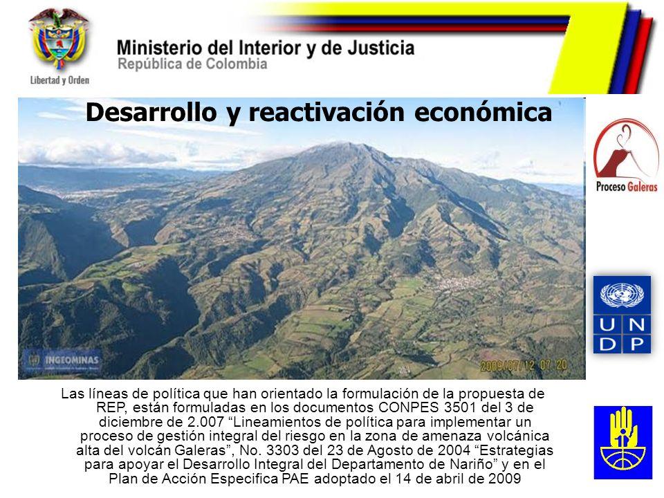 Las líneas de política que han orientado la formulación de la propuesta de REP, están formuladas en los documentos CONPES 3501 del 3 de diciembre de 2
