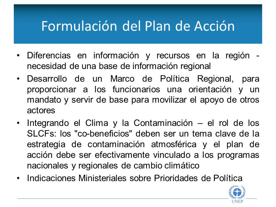 Objetivos de la Red Intergubernamental Diferencias en información y recursos en la región - necesidad de una base de información regional Desarrollo d