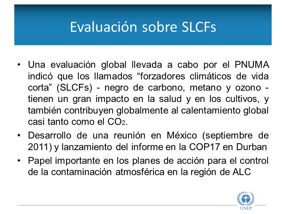 Objetivos de la Red Intergubernamental Una evaluación global llevada a cabo por el PNUMA indicó que los llamados forzadores climáticos de vida corta (